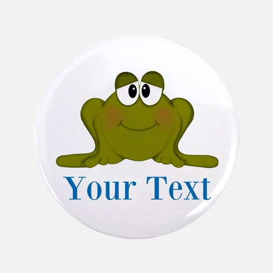 Personalizable Blue Frog Button