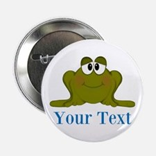 """Personalizable Blue Frog 2.25"""" Button (10 pack)"""