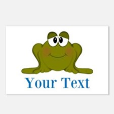Personalizable Blue Frog Postcards (Package of 8)