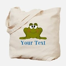 Personalizable Blue Frog Tote Bag