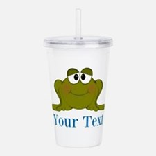 Personalizable Blue Frog Acrylic Double-wall Tumbl