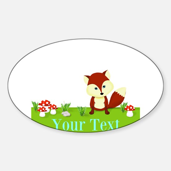 Personalizable Fox in the Woods Decal