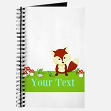 Personalizable Fox in the Woods Journal