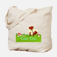Personalizable Fox in the Woods Tote Bag