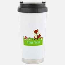 Personalizable Fox in the Woods Travel Mug
