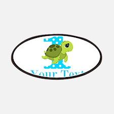 Sea Turtle First Birthday Blue Polka Dot Patch