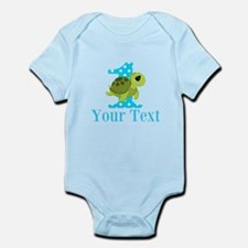 Sea Turtle First Birthday Blue Polka Dot Body Suit