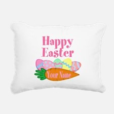 Happy Easter Carrot and Eggs Rectangular Canvas Pi