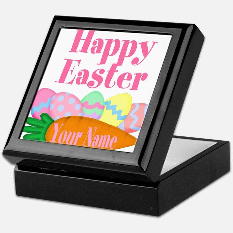 Happy Easter Carrot and Eggs Keepsake Box