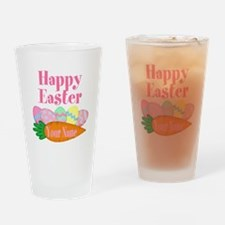 Happy Easter Carrot and Eggs Drinking Glass
