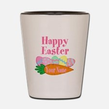 Happy Easter Carrot and Eggs Shot Glass