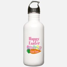 Happy Easter Carrot and Eggs Water Bottle