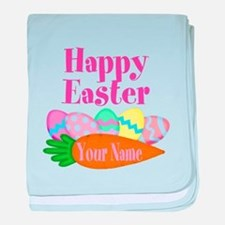 Happy Easter Carrot and Eggs baby blanket