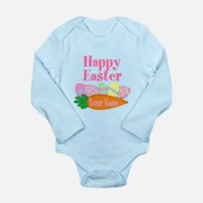 Happy Easter Carrot and Eggs Body Suit