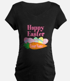 Happy Easter Carrot and Eggs Maternity T-Shirt