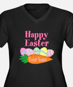 Happy Easter Carrot and Eggs Plus Size T-Shirt