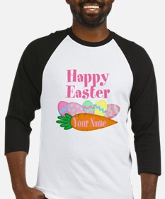 Happy Easter Carrot and Eggs Baseball Jersey