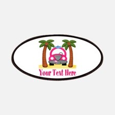 Personalizable Beach Pink Car Patch