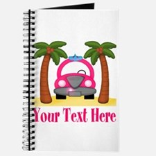 Personalizable Beach Pink Car Journal