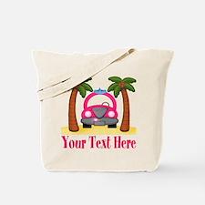 Personalizable Beach Pink Car Tote Bag