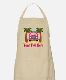 Personalizable Beach Pink Car Apron