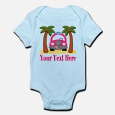 Personalizable Beach Pink Car Body Suit