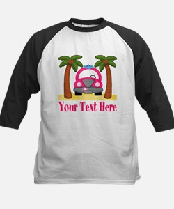Personalizable Beach Pink Car Baseball Jersey