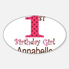 Personalizable First Birthday Pink Brown Decal