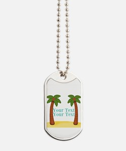 Personalizable Palm Trees Dog Tags