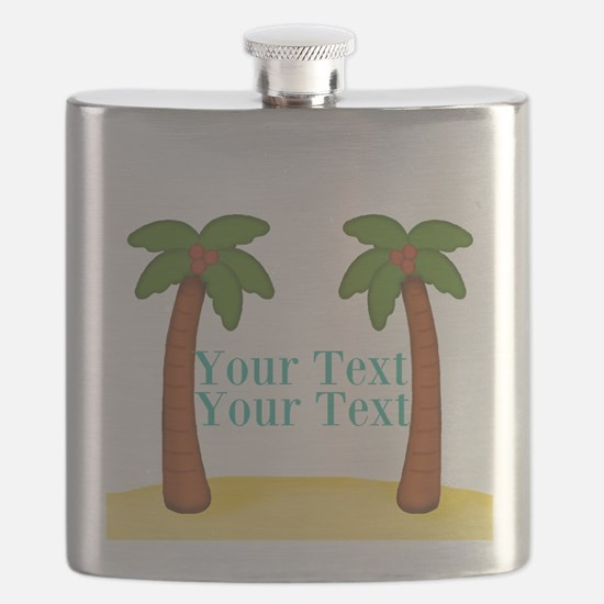 Personalizable Palm Trees Flask