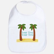 Personalizable Palm Trees Baby Bib