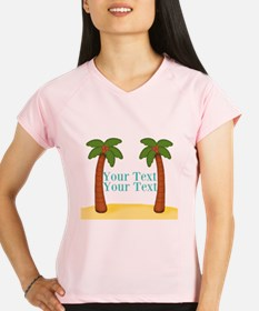 Personalizable Palm Trees Performance Dry T-Shirt