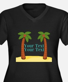 Personalizable Palm Trees Plus Size T-Shirt
