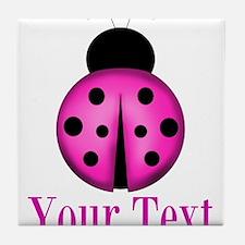 Purple Ladybug Tile Coaster