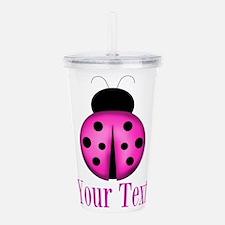 Purple Ladybug Acrylic Double-wall Tumbler