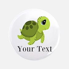 "Personalizable Sea Turtle 3.5"" Button (100 pack)"