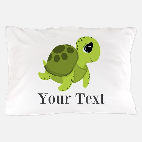 Personalizable Sea Turtle Pillow Case