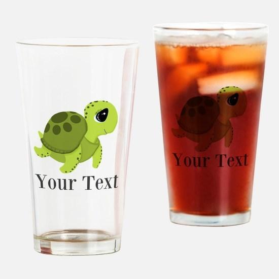 Personalizable Sea Turtle Drinking Glass