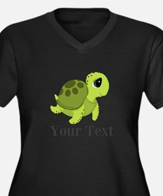 Personalizable Sea Turtle Plus Size T-Shirt