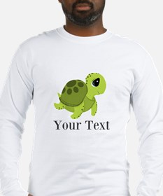 Personalizable Sea Turtle Long Sleeve T-Shirt