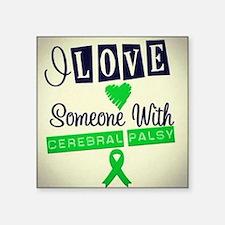 """Cute Cerebral palsy Square Sticker 3"""" x 3"""""""