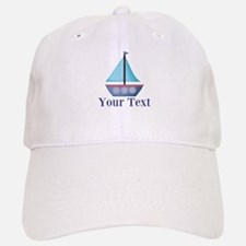 Customizable Blue Sailboat Baseball Cap