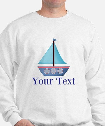 Customizable Blue Sailboat Sweater