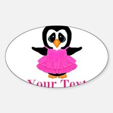 Personalizable Penguin in Pink Decal