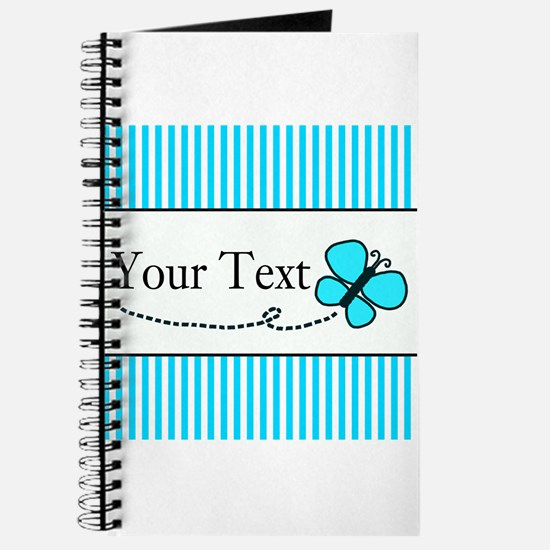Personalizable Teal Butterfly Journal