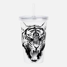 Unique Cat face Acrylic Double-wall Tumbler