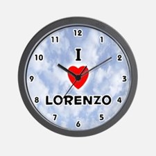I Love Lorenzo (Black) Valentine Wall Clock