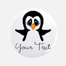 "Personalizable Penguin 3.5"" Button (100 pack)"