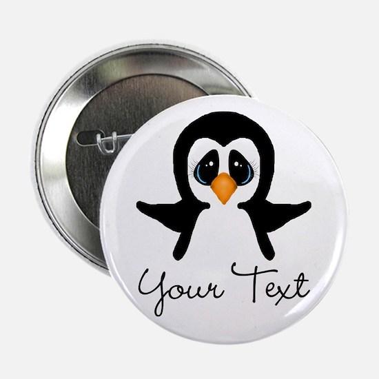 "Personalizable Penguin 2.25"" Button"
