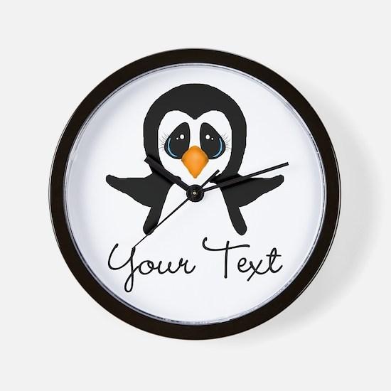Personalizable Penguin Wall Clock